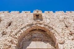 Upper part of Zion Gate, Jerusalem Stock Images