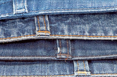 The upper parts of jeans Stock Images