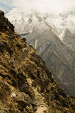 The upper path  in Himalayas Royalty Free Stock Photography