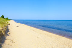 Upper Peninsula Beach Stock Photo