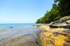 Upper Peninsula. (Pictured Rock National Lake Shore) - Michigan, USA royalty free stock photos