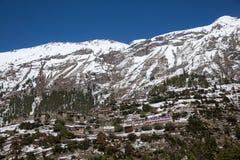Upper Pisang village, Around Annapurna trek, Manang district, Gandaki zone, Nepal Himalayas, Nepal stock photos