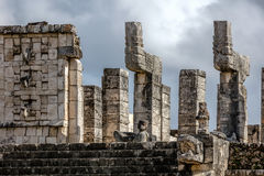 Upper platform of the Temple of a Thousand Warriors Royalty Free Stock Photos