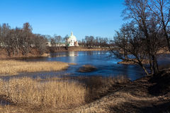 Upper Pond Park in Oranienbaum. Royalty Free Stock Photos