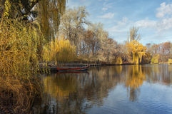 The Upper Pond in park Sofiyivka. Uman city, Ukraine stock image