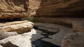 Upper pools in Wadi Arugot , Israel. Wadi Arugot in Ein Gedi Nature reserve Israel is one of the largest streams in the Judean desert. Picturesque area around Royalty Free Stock Photography