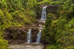 Upper Portion of Umauma Falls Stock Photo