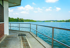Upper Seletar Park. Watched men office in seletar reservoir Stock Photo