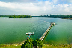 Upper Seletar. Water reservior at the Upper Seletar area in singapore Royalty Free Stock Photo