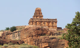 Upper Shivalaya Temple near Badami Royalty Free Stock Photo