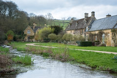 UPPER SLAUGHTER, GLOUCESTERSHIRE/UK - MARCH 24 : Scenic View of Royalty Free Stock Photo
