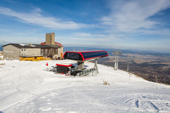 Upper station of chairlift on Skalnate pleso. Royalty Free Stock Images