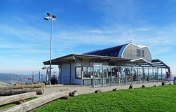 Upper station of the Ettelsberg cable car in Willingen (Germany) Stock Photo