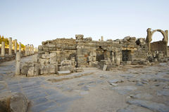 Upper Street ancient city of Ephesus. Ephesus - ancient ancient city on the western coast of Asia Minor, the territory of Turkey Stock Image