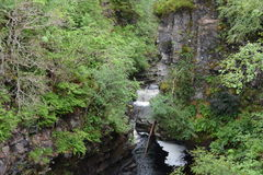 Upper stretch of Corrieshalloch Gorge Royalty Free Stock Photography