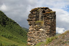 Upper Svaneti, Georgia. Architectural monuments of Upper Svanetia are included in a list of UNESCO World Heritage Sites Stock Photo