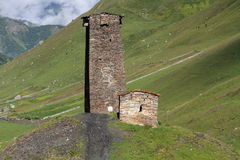 Upper Svaneti, Georgia. Svanetia is known for their architectural treasures and picturesque landscapes Royalty Free Stock Image