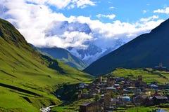 Upper Svaneti, Georgia. Ushguli village. Upper Svaneti - UNESCO World Heritage Stock Photos