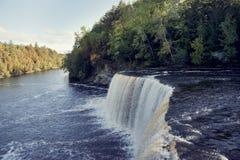 Upper Tahquamenon Falls in Michigan Stock Photography