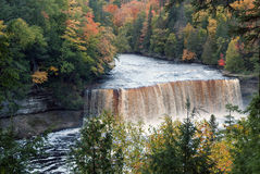 Upper Tahquamenon Falls on the Tahquamenon River in the eastern Upper Peninsula of Michigan, USA Stock Images