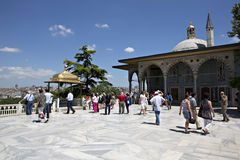 Upper terrace and Baghdad Kiosk, Topkapi Palace Royalty Free Stock Images
