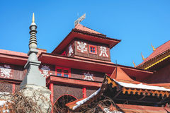 Upper tier of buddhist monastery Royalty Free Stock Photo