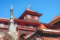 Upper tier of buddhist monastery Royalty Free Stock Photo