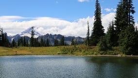 Upper Tipsoo Lake stock footage