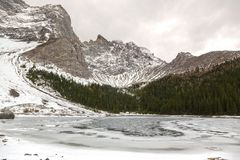 Upper Tombstone Lake Landscape in Kananaskis Country Alberta Foothills Stock Images