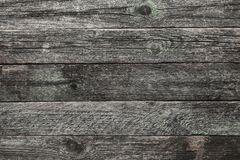 Upper, top view of a light gray, time aged wooden blackboard background in old. Rustic style Royalty Free Stock Photos