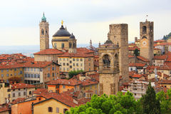 Upper town of Bergamo, Italy Stock Photo