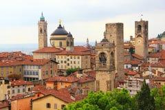 Upper town of Bergamo, Italy Stock Photo