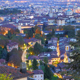 Upper town of Bergamo Royalty Free Stock Photography