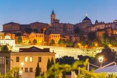 Upper town Citta alta, Bergamo, Lombardy, Italy stock photography