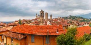 Upper town Citta alta, Bergamo, Lombardy, Italy royalty free stock image