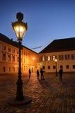 Upper Town Lanterns at Dusk Stock Images