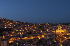 Upper town of modica ragusa sicily Italy europe Royalty Free Stock Images