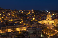 Upper town of modica ragusa sicily Italy europe Royalty Free Stock Image