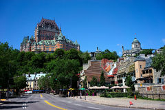 The upper town Quebec as seen from the lower town, Quebec, Canada Stock Images