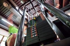 Upper traction gym machine Stock Photo