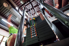 Upper traction gym machine Royalty Free Stock Photography