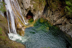 Upper Twin Falls, Snoqualmie River, Washington Stock Image