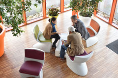 Upper view of business people having a meeting Stock Photography