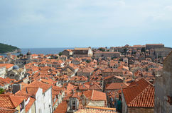 Upper View of Dubrovnik Old Town Stock Image