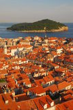 Upper View of Dubrovnik Old Town Royalty Free Stock Photos