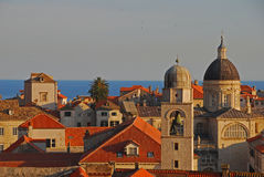 Upper View of Dubrovnik Old Town Royalty Free Stock Photography