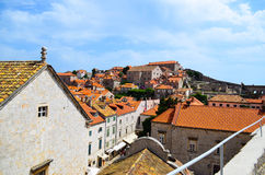 Upper view of houses  the   old town of Dubrovnik ,Croatia Stock Photography