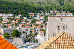Upper view of houses  the   old town of Dubrovnik ,Croatia Stock Images