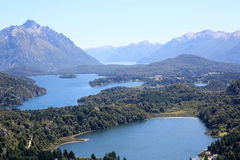 Upper view of Nahuel Huapi lake in Argentina Royalty Free Stock Photography