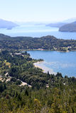 Upper view of Nahuel Huapi lake- Argentina Stock Images